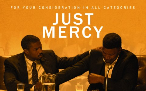 just mercy poster jamie foxx michael b jordan film movie