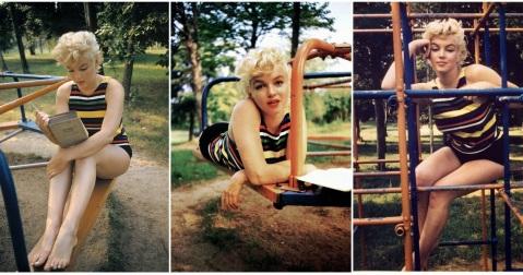 Marilyn Monroe Reads Joyce's Ulysses eve arnold