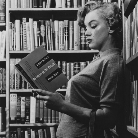 Marilyn Monroe Reads Arthur Miller's Enemy of the People