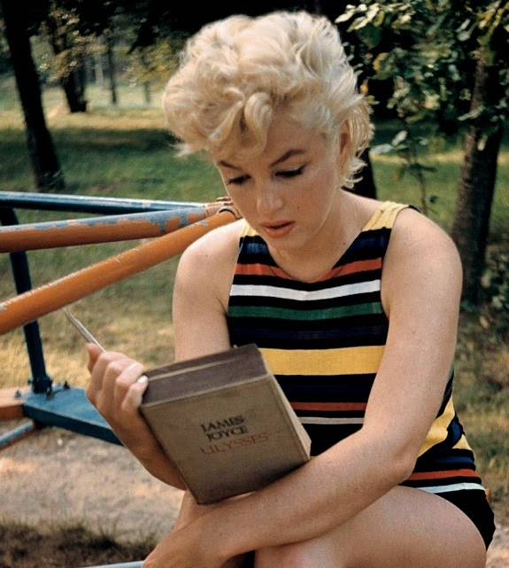 marilyn monroe reading james joyce ulysses