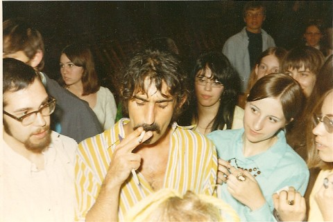 Frank Zappa at Muhlenberg College in 1969