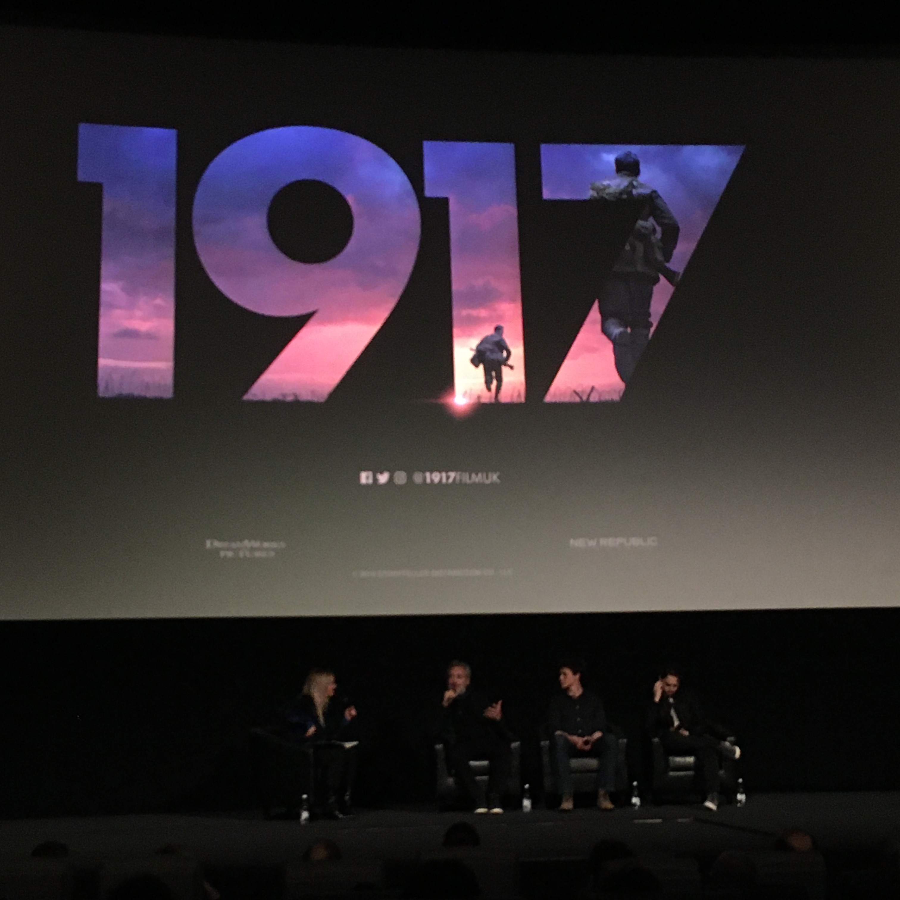 screening of 1917 at the Odeon Leicester Square 9 january 2020