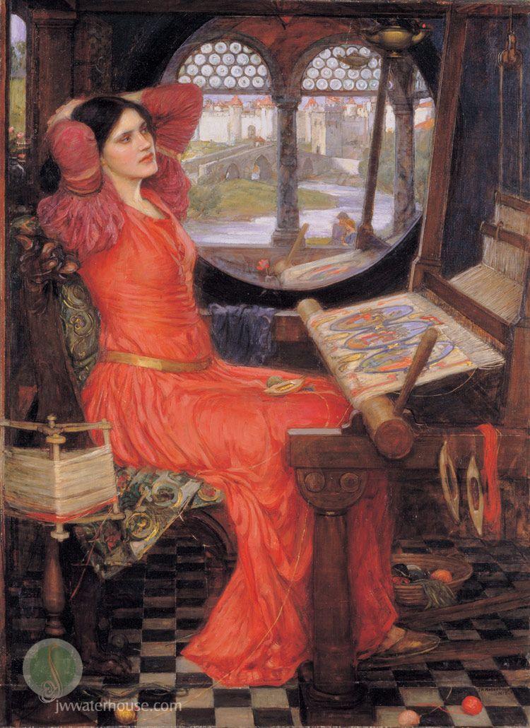 J. W. Waterhouse - I Am Half-Sick of Shadows Said The Lady of Shalott (1915) painting