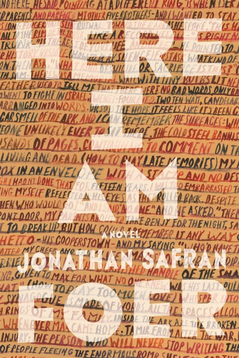 Here I Am by Jonathan Safran Foer book novel cover design