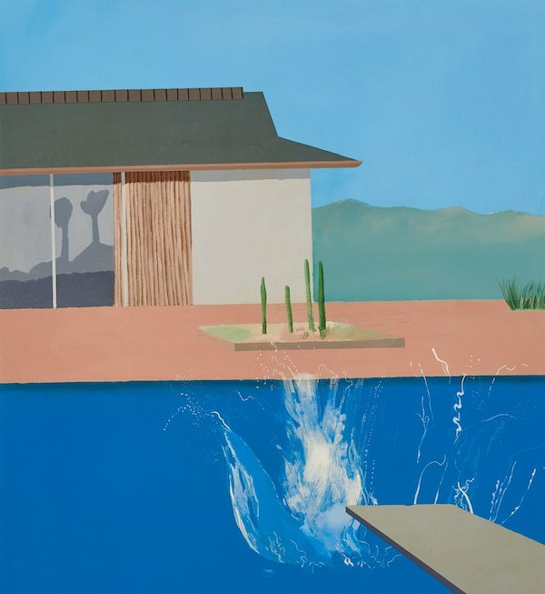 The Splash (1966) by David Hockney [1937- ]