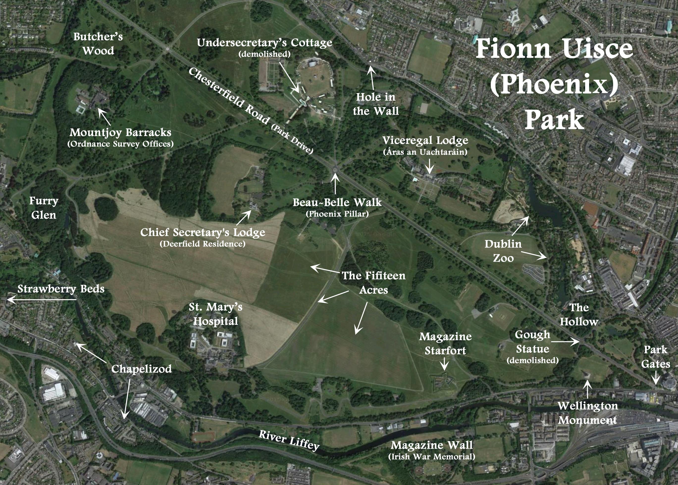 phoenix-park map finnegans wake