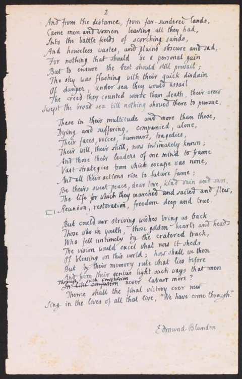 V day page 2 poem edmund blunden