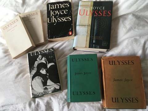 My Ulysses library copies editions book james joyce