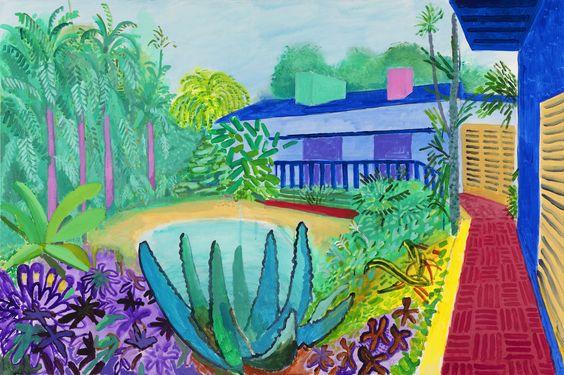 david hockney garden painting