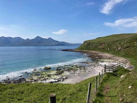 Isle of Eigg inner hebrides scotland island beach singing sands