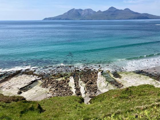 Isle of Eigg inner hebrides scotland island beach singing sands