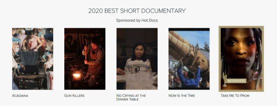 2020 BEST SHORT DOCUMENTARY CANADIAN SCREEN AWARDS
